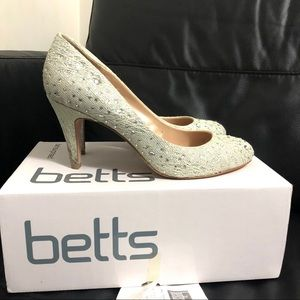 Betts Lover Silver High Heel Shoes Party Wedding